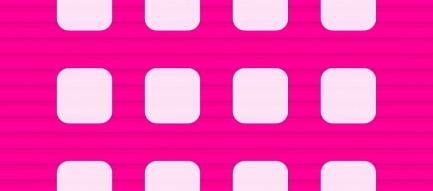 ビビッドなピンクの段差 iPhone6壁紙