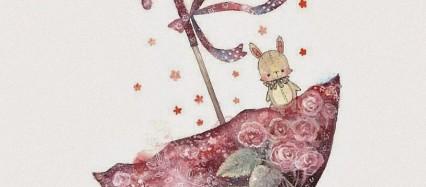 傘と兎 iPhone6壁紙