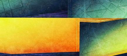 緑と黄色のエッジ iPhone6壁紙