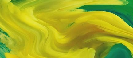 混じりあう黄色と緑色 iPhone6壁紙