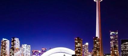 紫の綺麗な夜景 iPhone6壁紙