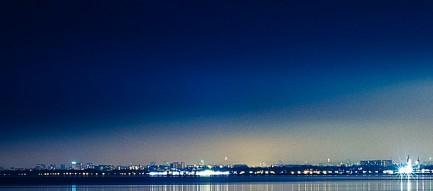 青い夜 iPhone6壁紙