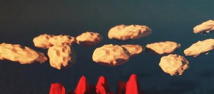 噴火 ポリゴン iPhone6壁紙