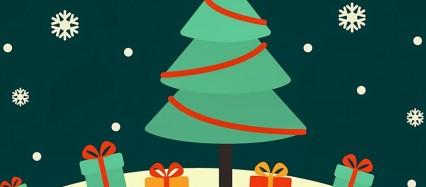 クリスマスツリー クリスマスカード iPhone6壁紙