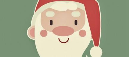 サンタクロースのイラスト iPhone6壁紙
