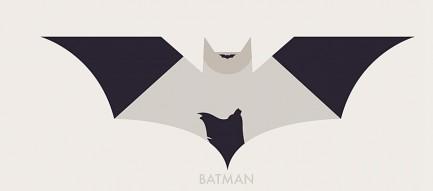 ミニマル バットマンロゴ iPhone6壁紙