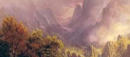 鹿の親子と大自然 iPhone6壁紙