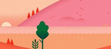 赤い風景 iPhone6壁紙