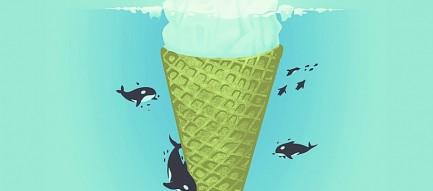 シャチとアイスクリーム iPhone6壁紙