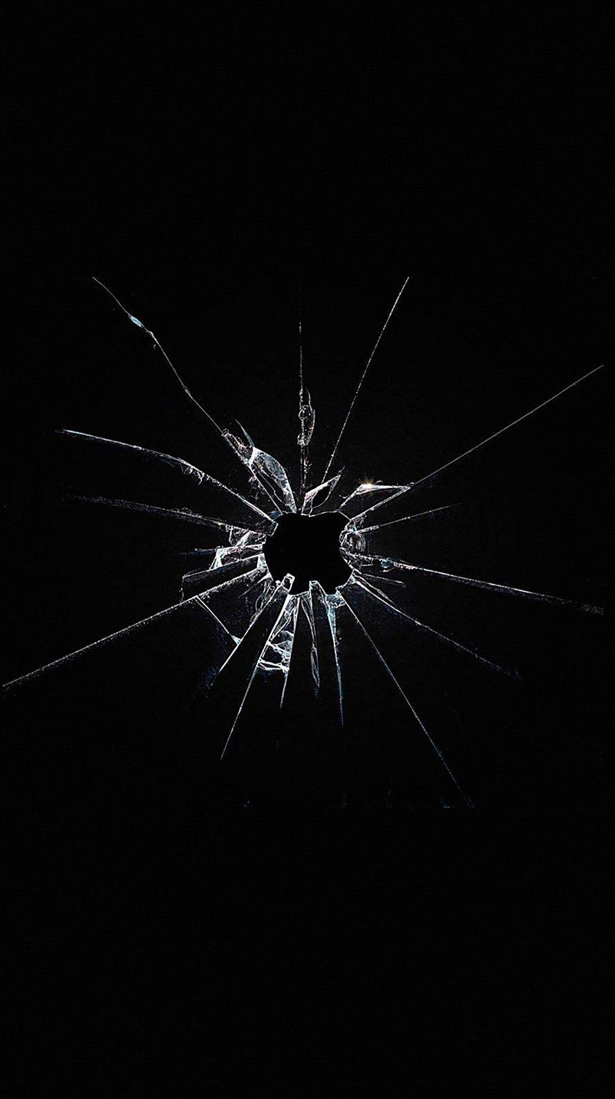 割れた黒いガラス iPhone6壁紙