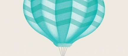鯨と気球 iPhone6壁紙