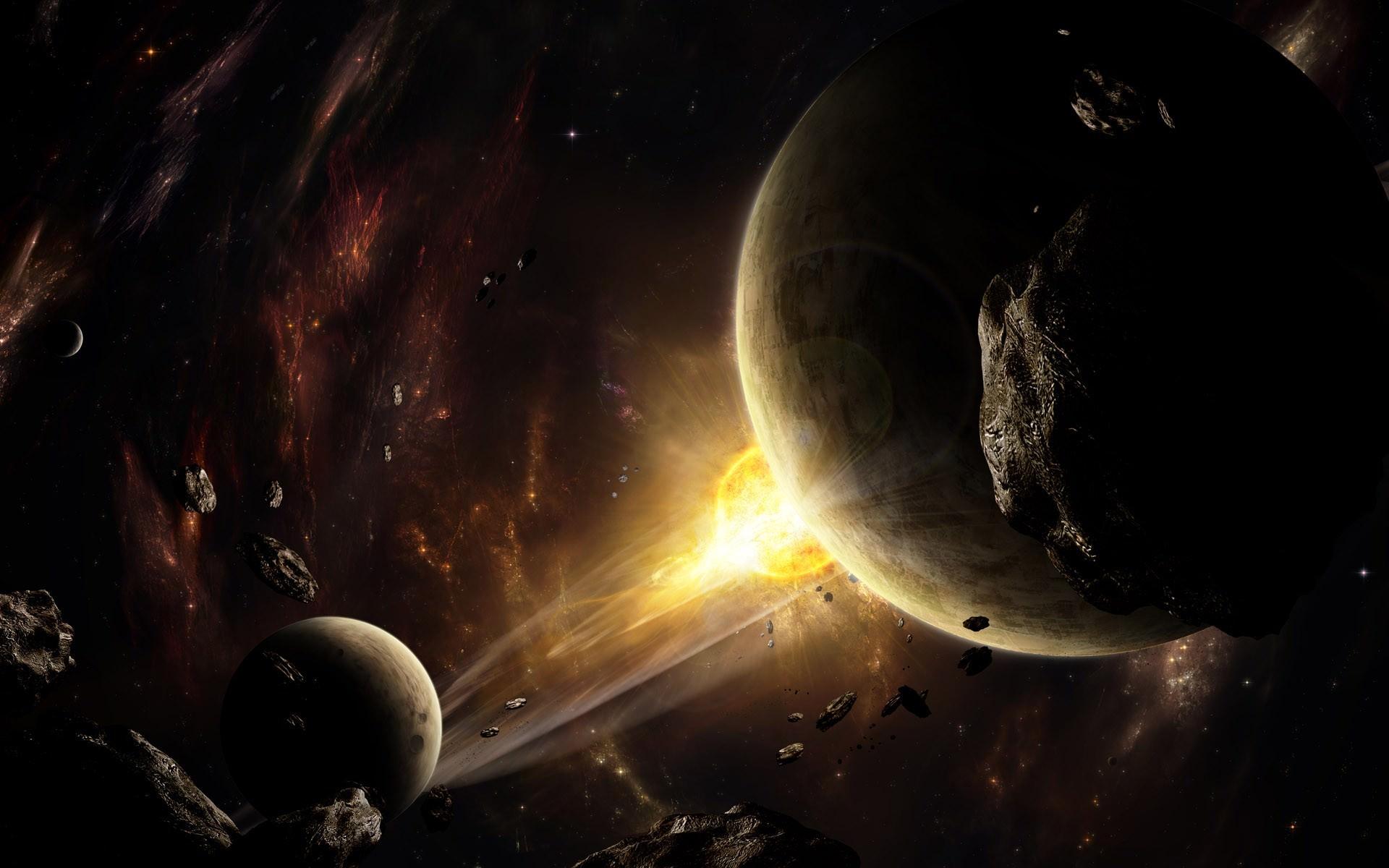 星と月と宇宙の壁紙