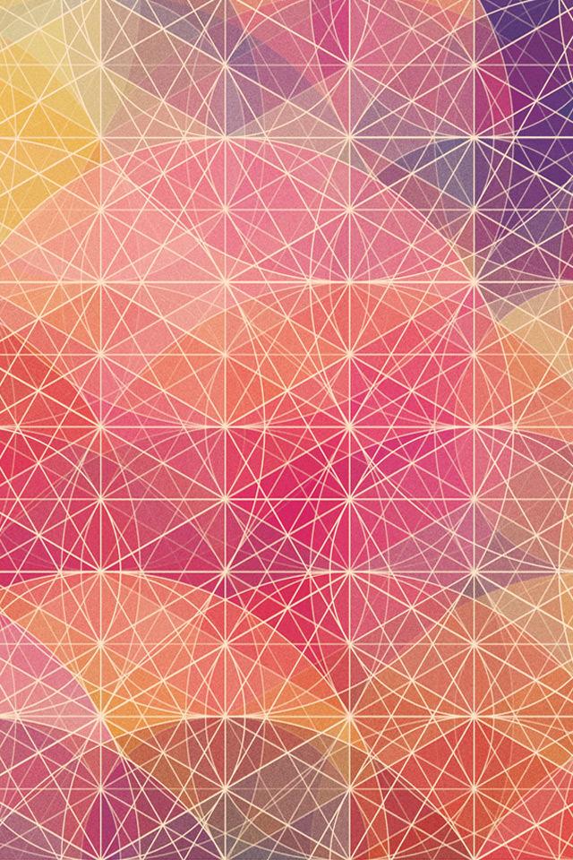 ビビットカラーのスマホ用壁紙(iPhone4S用)