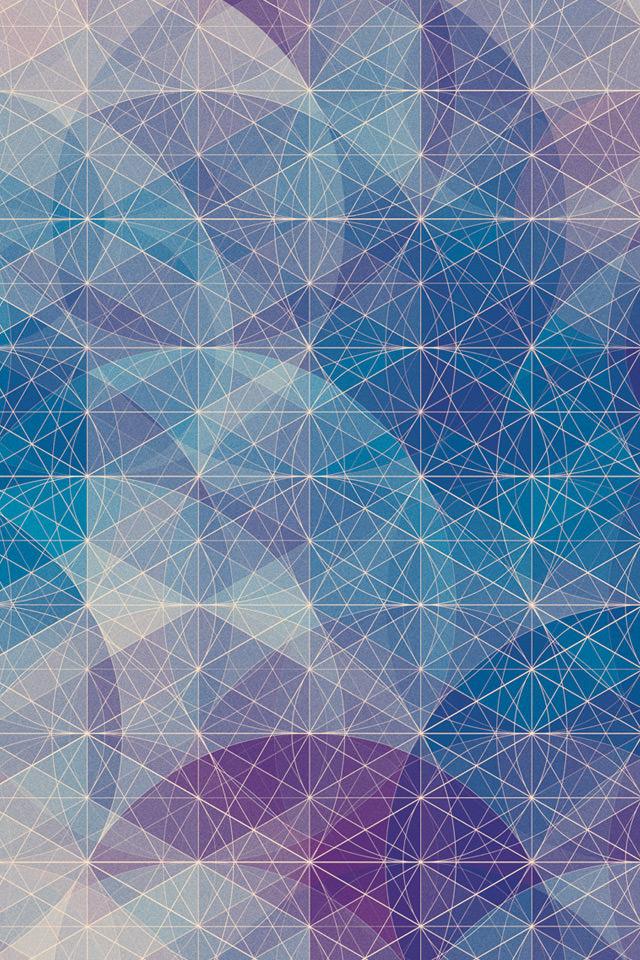 群青色の千代紙のスマホ用壁紙(iPhone4S用)