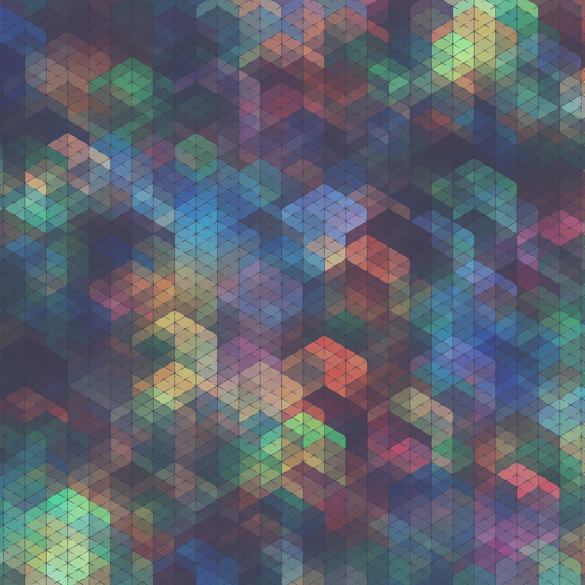 カラフルな幾何学模様の壁紙7(iPad3用/2048×2048)