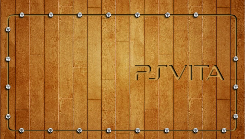 ウッド調のお洒落な壁紙(PSP Vita用/960×544)