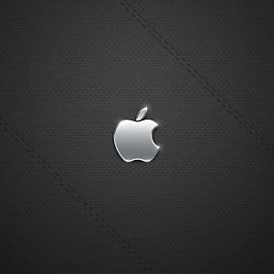 黒のレザー調の壁紙(iPad3用/2048×2048)