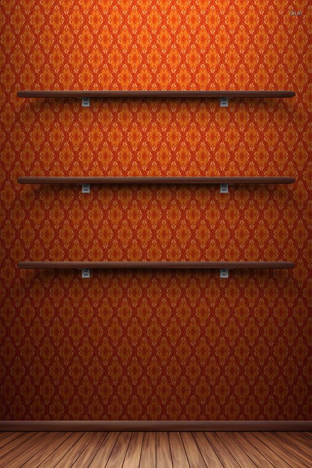 かわいいオレンジのスマホ用壁紙(iPhone用/640×960)