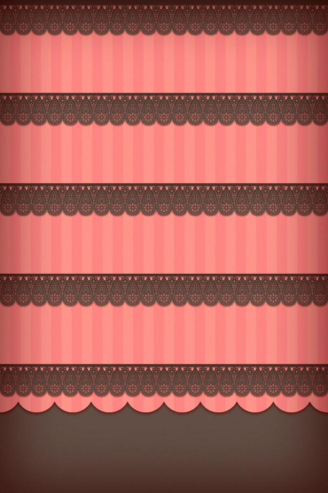 ピンクのかわいいスマホ用壁紙(iPhone用/640×960)