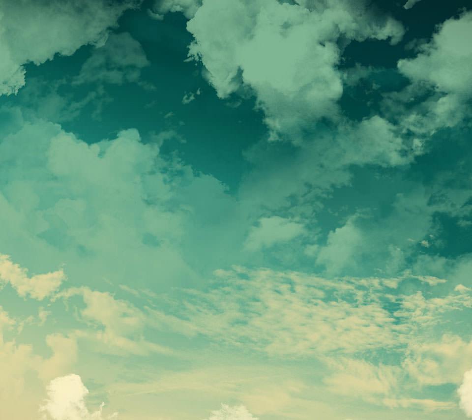 淡い空のスマホ用壁紙(Android用/960×854)