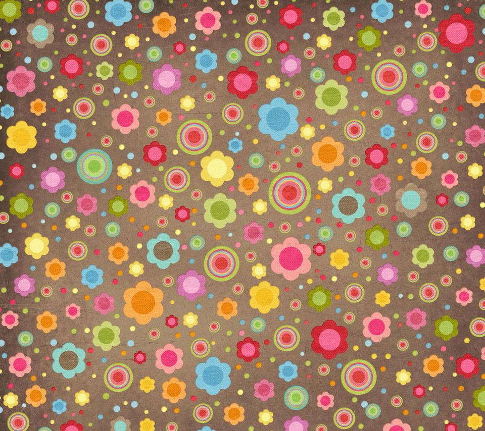 かわいい花柄 Androidスマホ用壁紙 Wallpaperbox