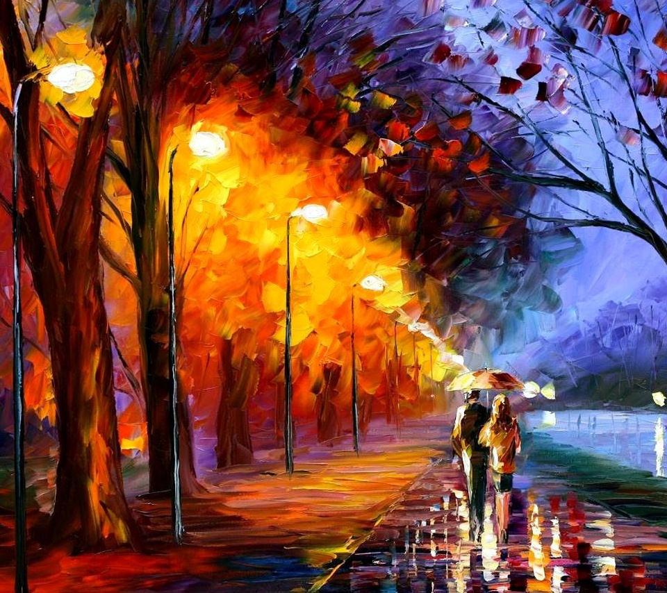 雨の路道 Androidスマホ用壁紙 Wallpaperbox