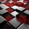 赤と白のキューブ Androidスマホ用壁紙