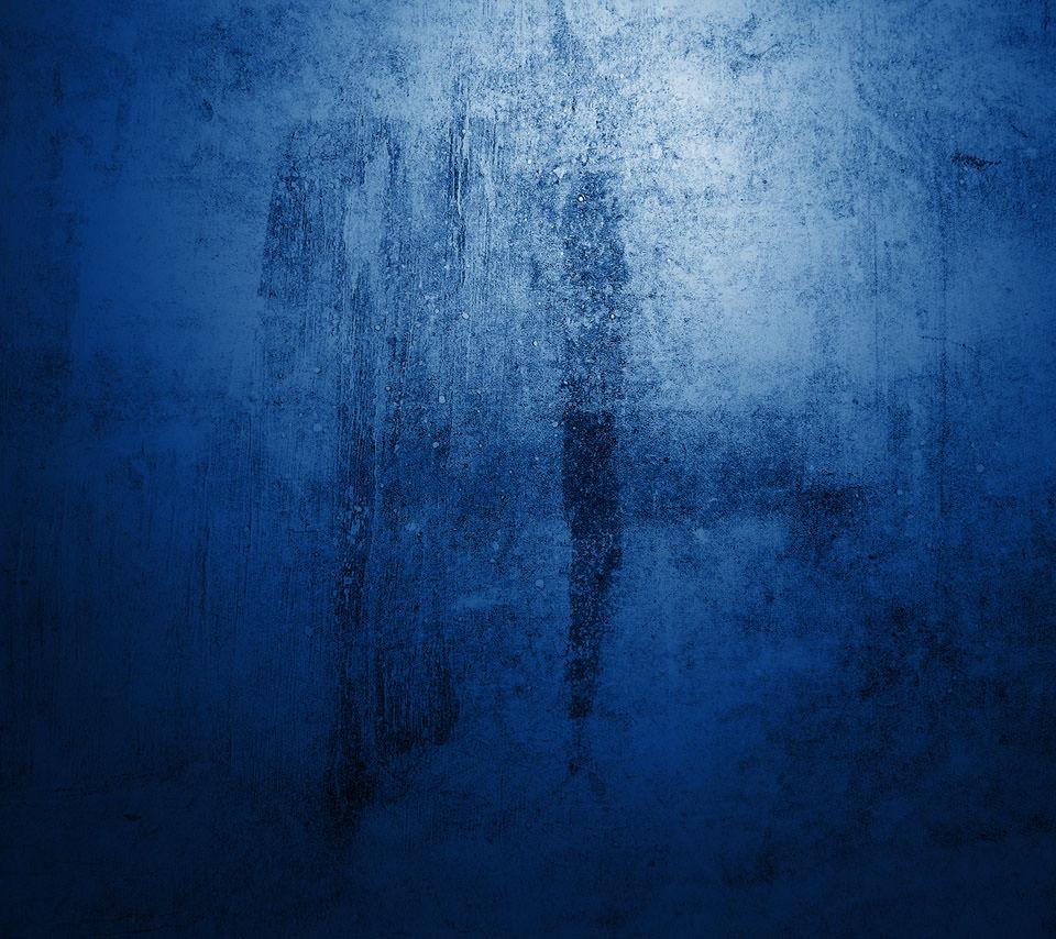 グランジ・ブルー Androidスマホ用壁紙