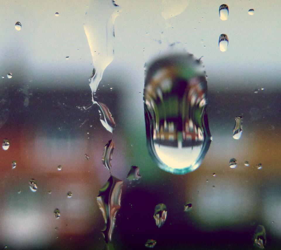 窓ガラスの水滴 Androidスマホ用壁紙 Wallpaperbox