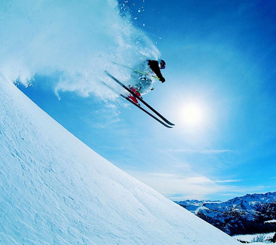 冬のスキー Androidスマホ用壁紙 Wallpaperbox