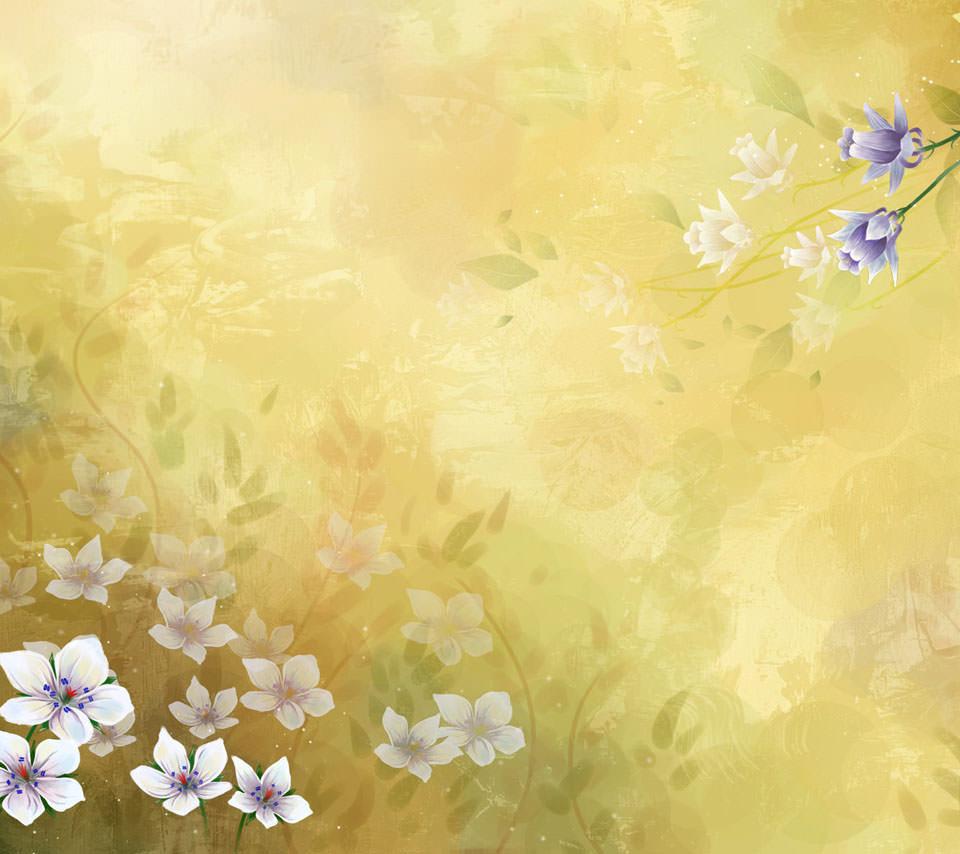 和風の花柄 Androidスマホ用壁紙 Wallpaperbox