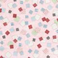 ピンクのパッチワーク Androidスマホ用壁紙