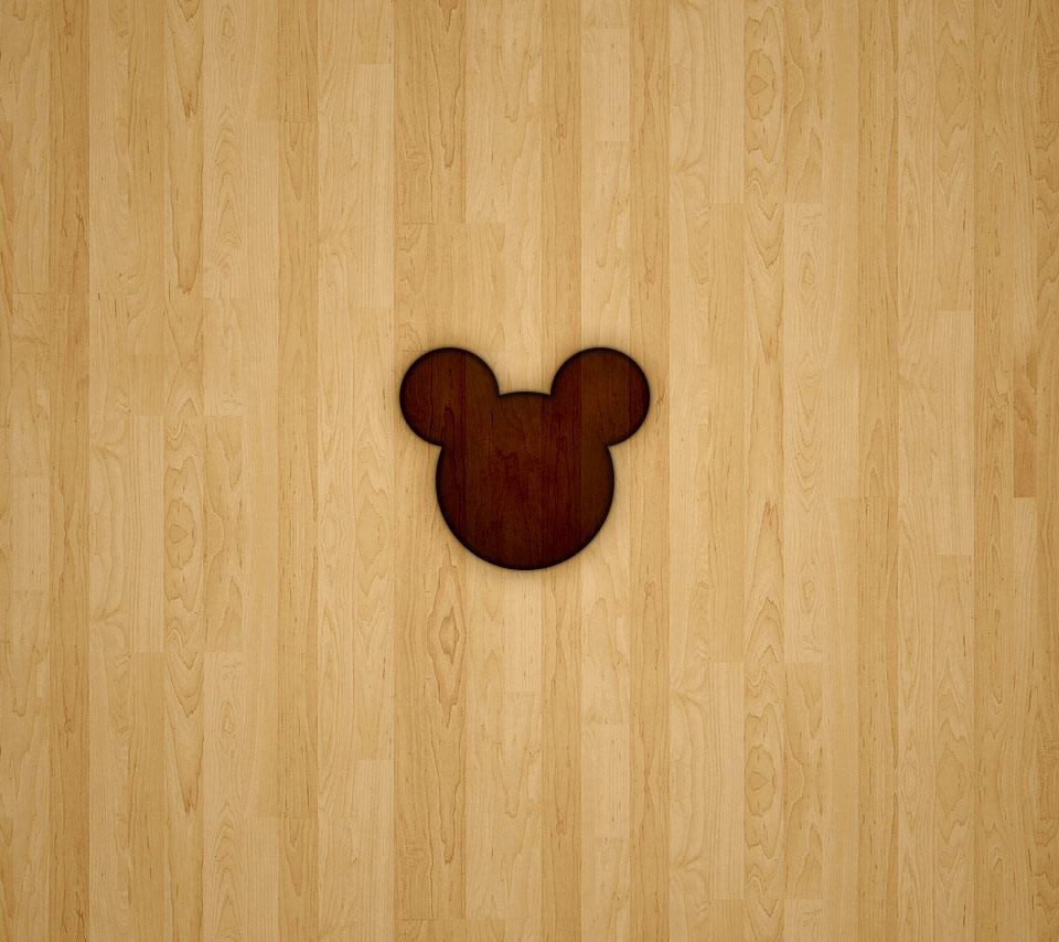 ミッキーっぽい木目調のandroidスマホ用壁紙 Wallpaperbox