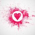 ピンクのハート Androidスマホ用壁紙