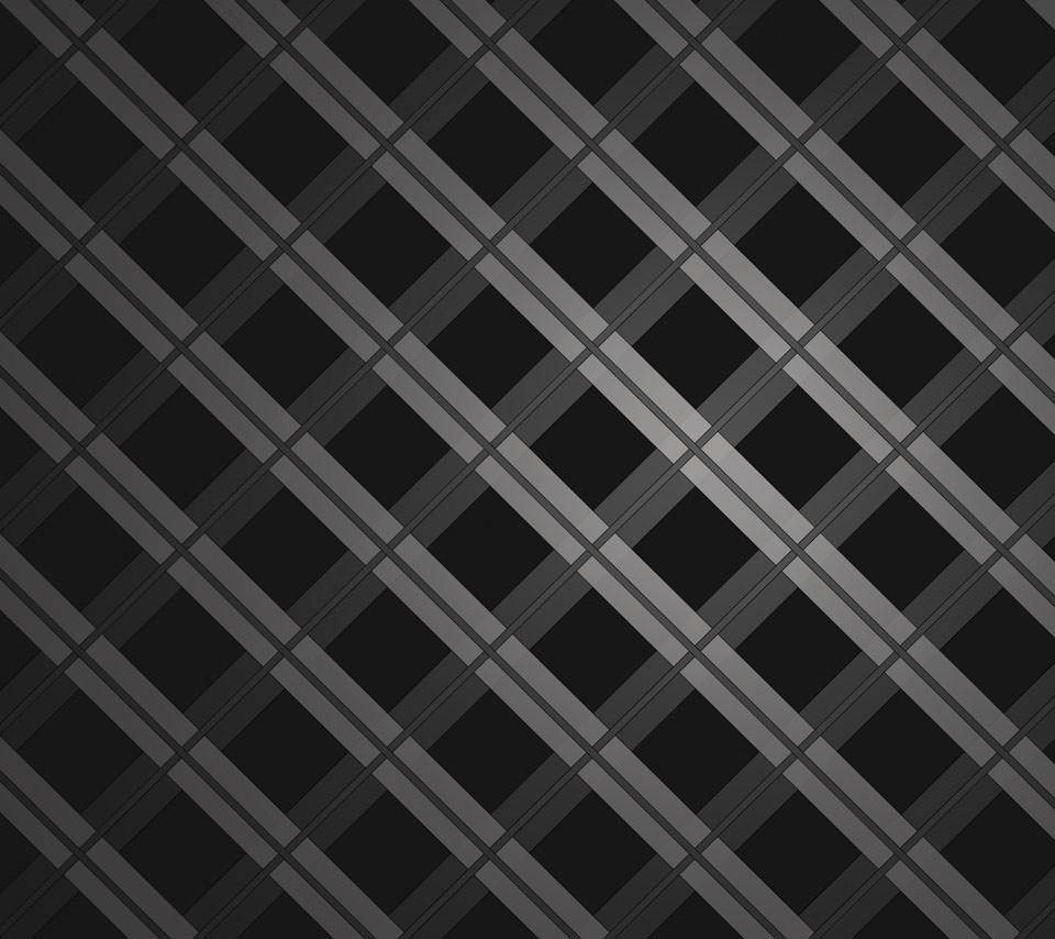 黒の格子状 Androidスマホ用壁紙