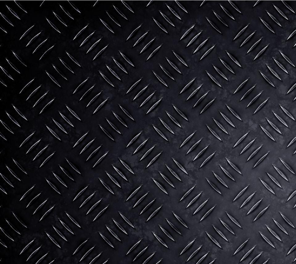 黒のメタリック調のAndroidスマホ用壁紙