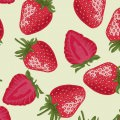 イチゴ・フルーツ柄 Androidスマホ用壁紙