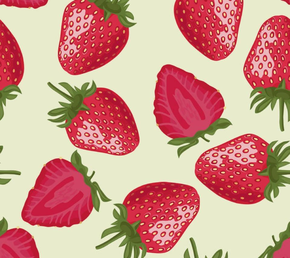イチゴ フルーツ柄 Androidスマホ用壁紙 Wallpaperbox