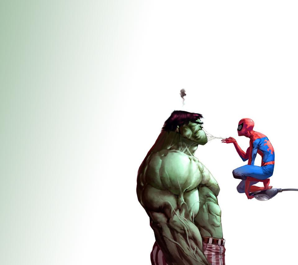 ハルクとスパイダーマン Androidスマホ壁紙 Wallpaperbox