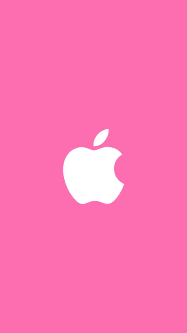 Simple Pink iPhone5 スマホ用壁紙