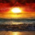 Sun Sets Sea Androidスマホ壁紙
