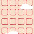 キュートなドット&ハート iPhone5 スマホ用壁紙