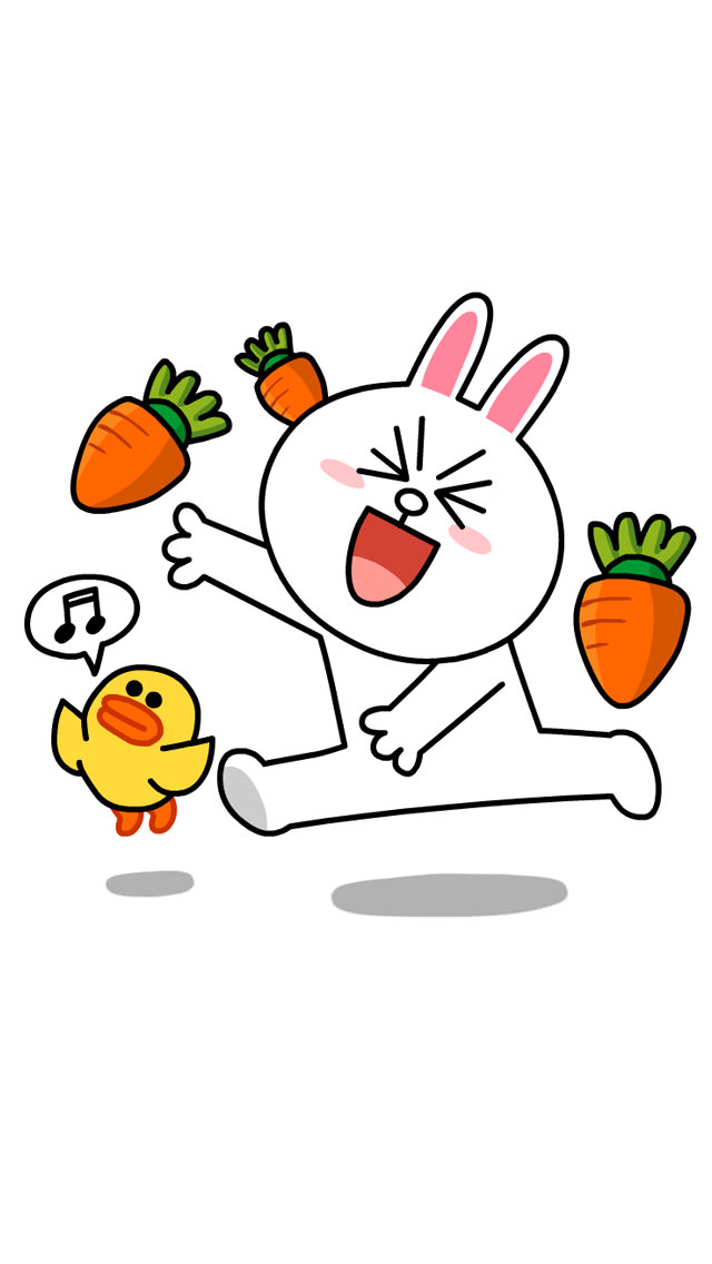 Line キャラクター CONY iPhone5 スマホ用壁紙