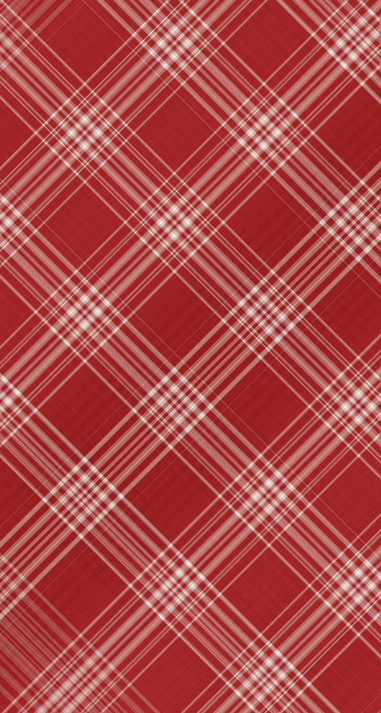 かわいい赤いチェック柄 Iphone5 スマホ用壁紙 Wallpaperbox