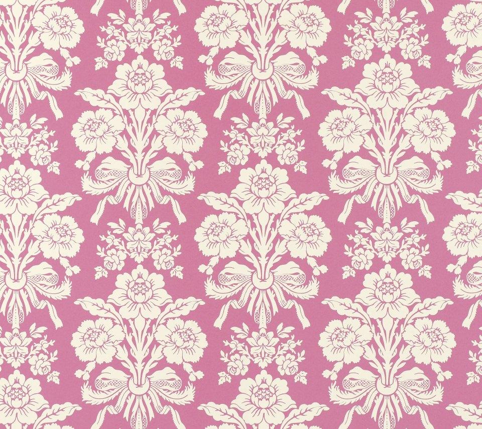 かわいいピンクの花柄 Android壁紙 Wallpaperbox