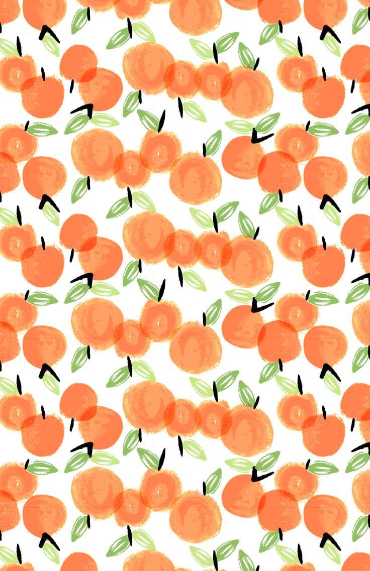 かわいいオレンジのiphone5 壁紙 Wallpaperbox