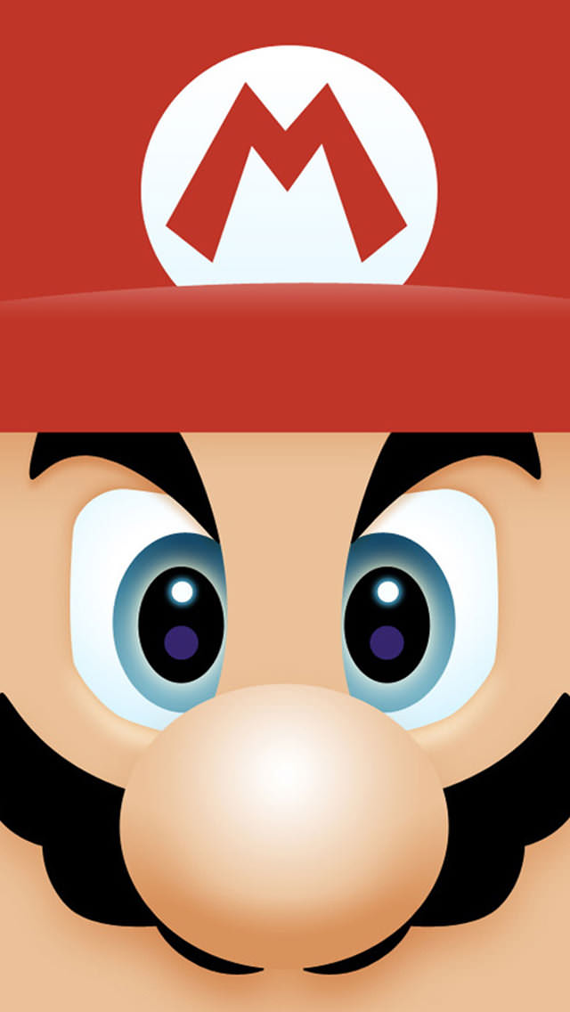 マリオの顔アップ iPhone5壁紙