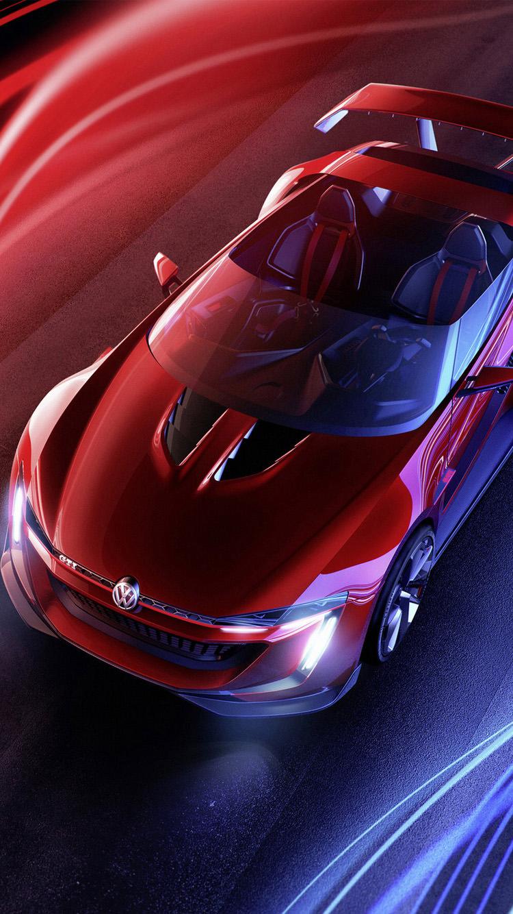 赤のオープンカー iPhone6 壁紙