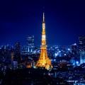 夜の東京タワー Android壁紙