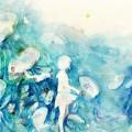水彩画の女子高生 iPhone6壁紙